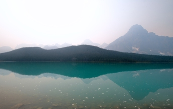 White Pyramid Over Waterfowl Lakes, Icefields Parkway, Banff National Park, Alberta, Canada