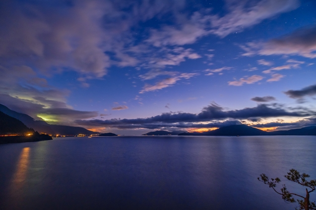 Illumination, Howe Sound, Near Lions Bay, British Columbia, Canada