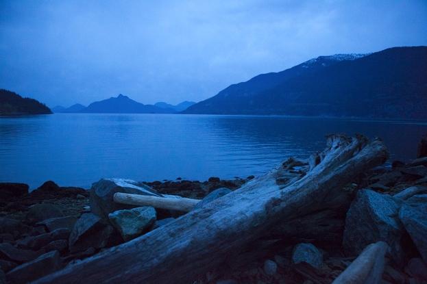 Detritus, Britannia Beach, Howe Sound, British Columbia, Canada