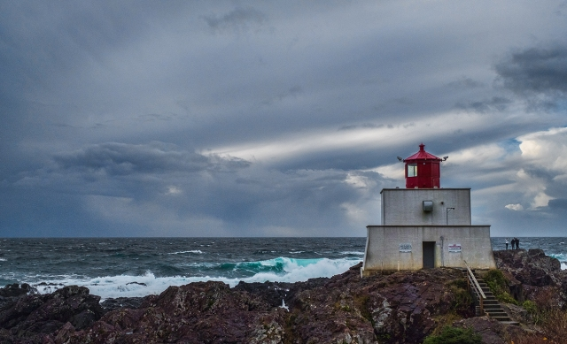 Gathering of Friends, Amphitrite Lighthouse, Wild Pacific Trail, Ucluelet, Vancouver Island, British Columbia, Canada