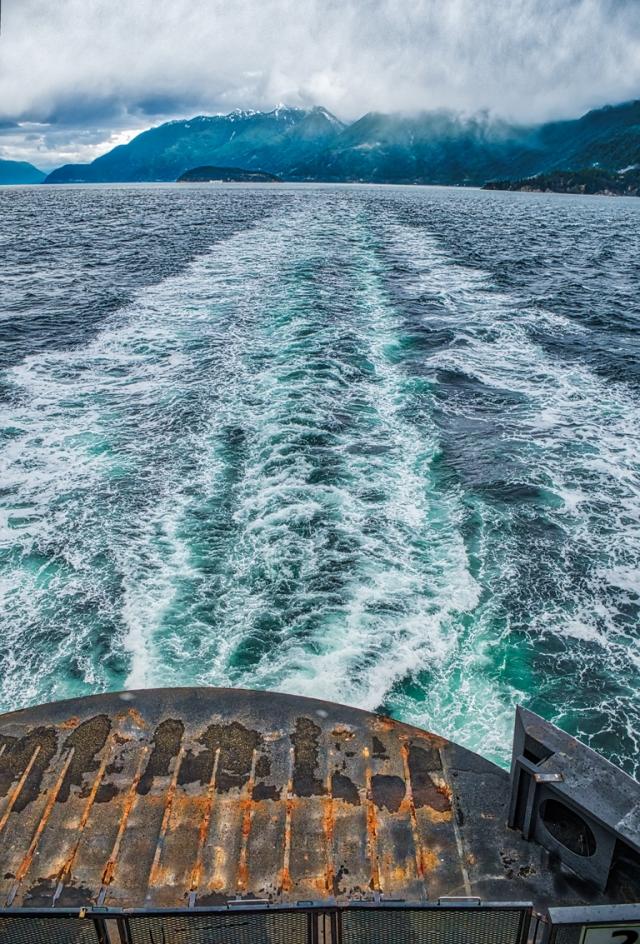 Last Looks, Howe Sound, BC Ferries, Horseshoe Bay to Nanaimo, British Columbia, Canada