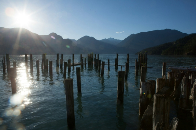 Missing the Sun, Britannia Beach, Howe Sound, British Columbia, Canada