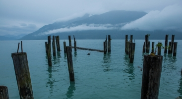 Ruins of a Pier, Britannia Beach, Howe Sound, British Columbia, Canada
