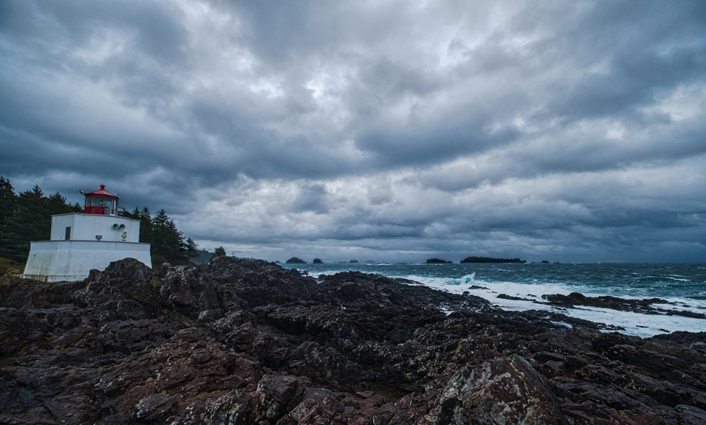 Red Cap, Amphitrite Lighthouse, Ucluelet, Vancouver Island, British Columbia, Canada