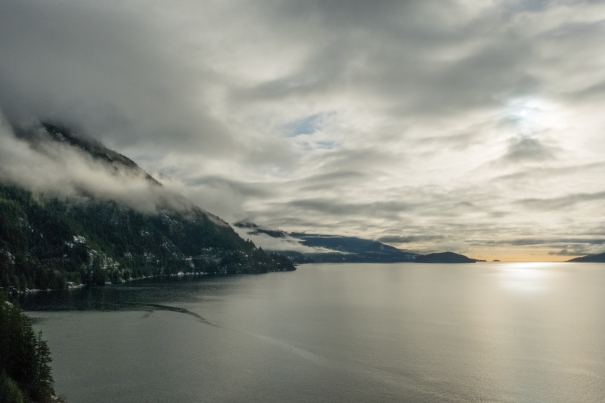 Sea to Sky Highway, Near Lions Bay, Howe Sound, British Columbia, Canada