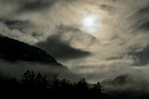 Sky Becomes the Land, Porteau Cove, Howe Sound, British Columbia, Canada