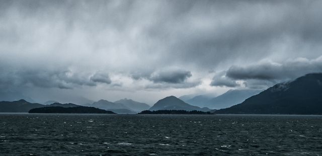 Stormy Crossing, Horseshoe Bay to Nanaimo, Queen of Cowichan, BC Ferries, Strait of Georgia, British Columbia, Canada