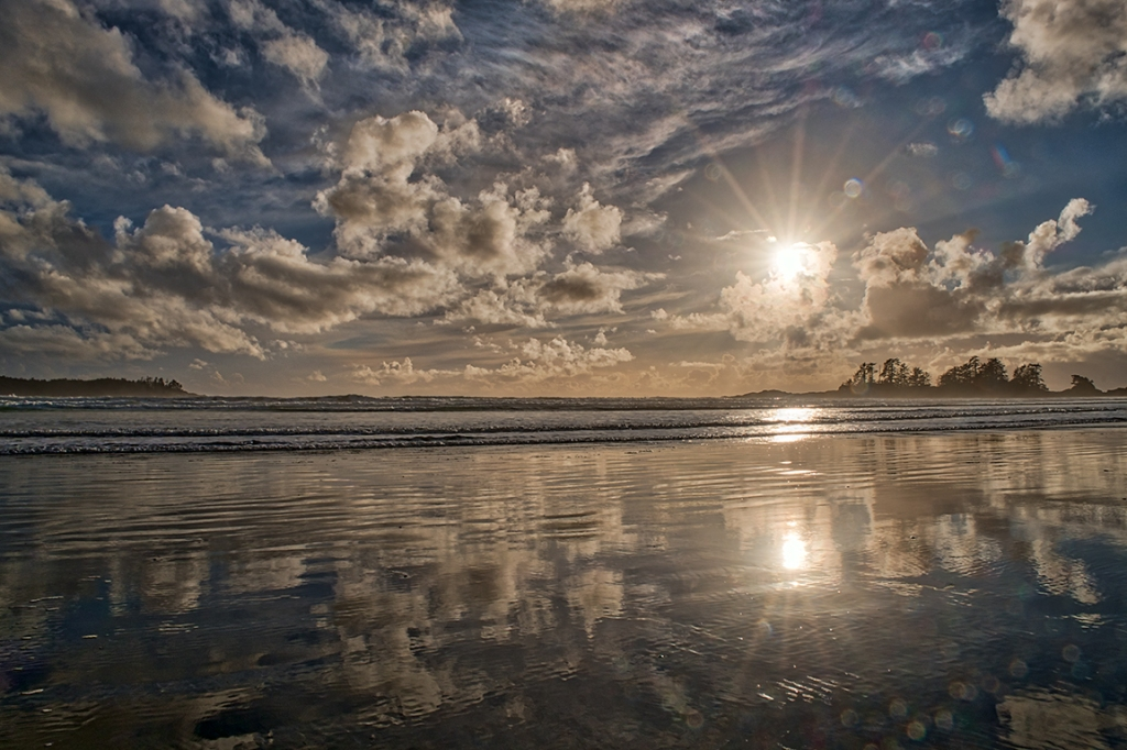 Sunset, Chesterman Beach, Tofino, Vancouver Island, British Columbia, Canada
