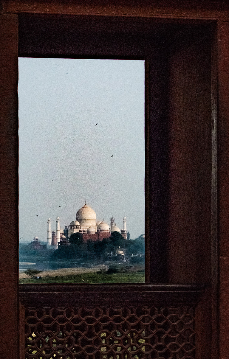 Taj Mahal from Red Fort, Agra, Uttar Pradesh, India