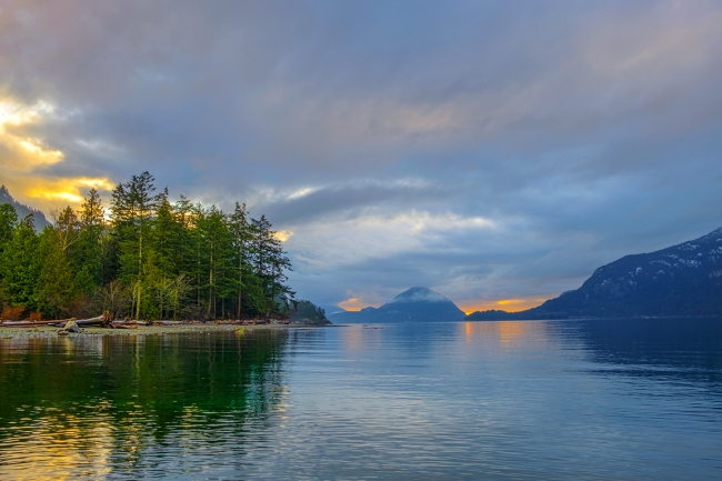 The Varnished Sea, Howe Sound, Porteau Cove, British Columbia, Canada