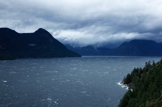 The Wind Blows Up the Sound, Howe Sound, Britannia Beach, British Columbia, Canada
