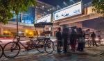 Blur, Bicycle Rickshaw Line, Lajpat Nagar Metro Station, New Delhi, India
