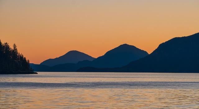 Depth, Howe Sound, From Britannia Beach, British Columbia, Canada
