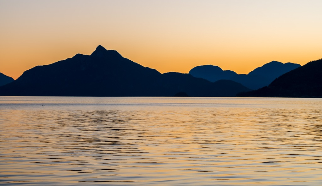 Evening Glow, Britannia Beach, Howe Sound, Sea to Sky Highway, British Columbia, Canada