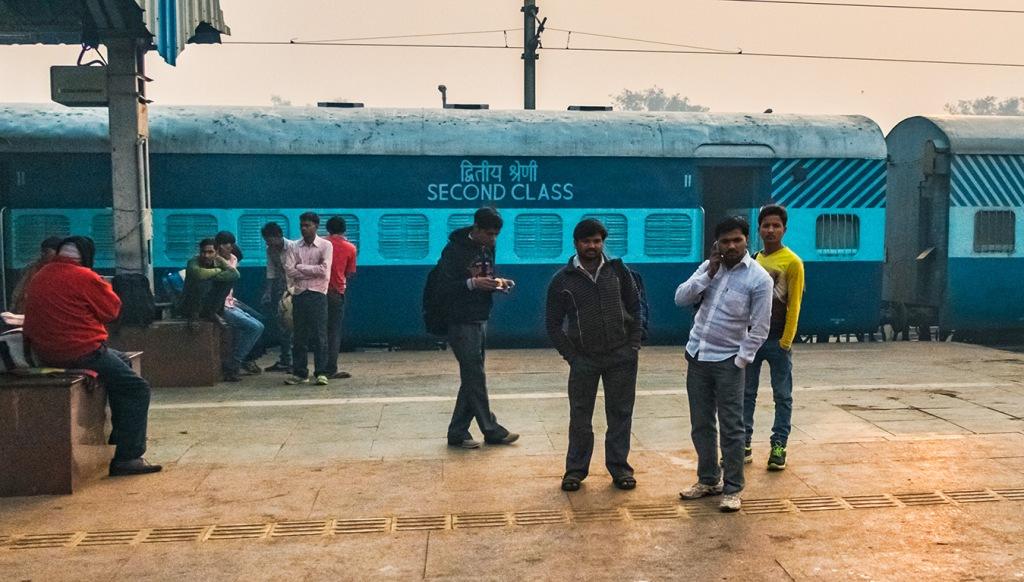 Looking Back, Random Train Platform, Delhi to Agra Express, Uttar Pradesh, India copy