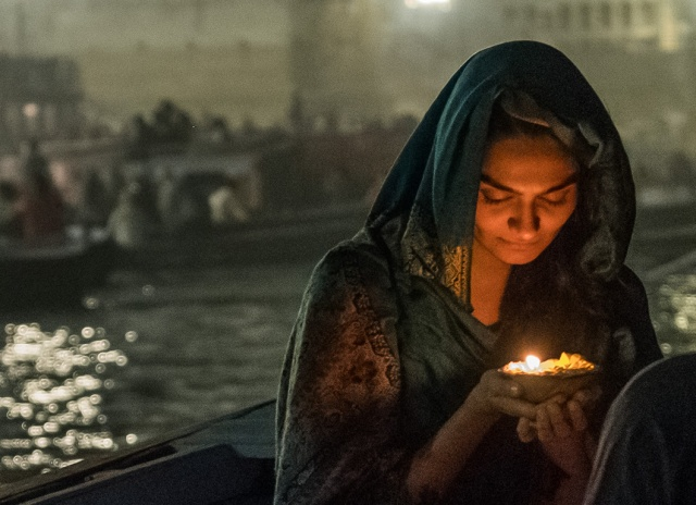 Angel of the Ganga, Ganges River, Varanasi, Uttar Pradesh, India