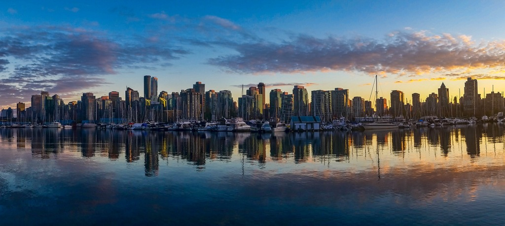 Coal Harbour Sunset, Vancouver, British Columbia, Canada