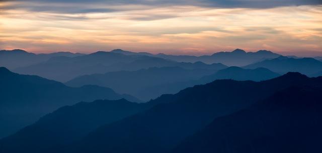 Himalaya Foothills Sunrise VI, Kunjapuri Devi Temple, Rishikesh, Uttarakhand, India