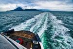 Stormy Wake, Queen of Cowichan, BC Ferries, Georgia Strait, Horseshoe Bay to Nanaimo, British Columbia, Canada II