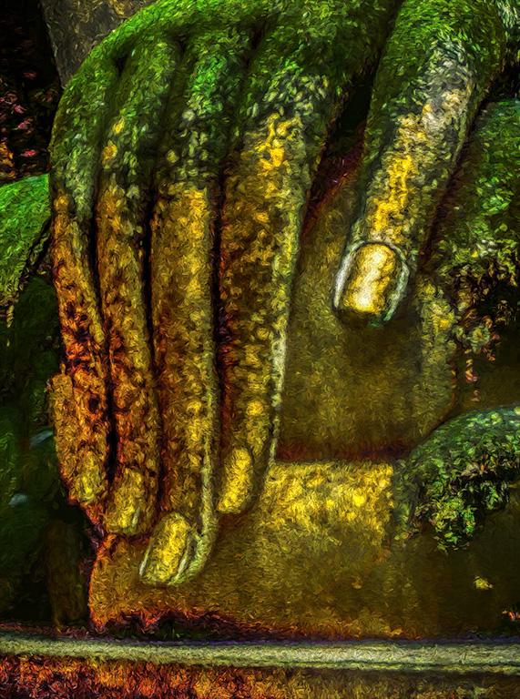 This Golden Touch, Buddha Dispelling Mara, Wat Shri Chum, Sukhothai, Thailand