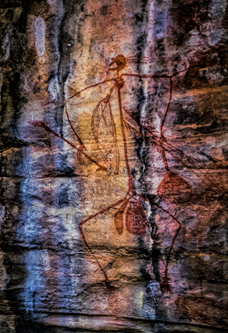 Ancient Selfie, Aboriginal Art, Kakadu National Park, Northern Territory, Australia copy