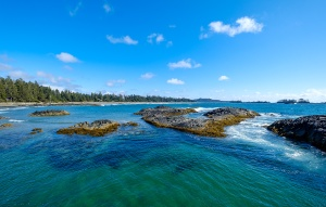 Aqua and Azure, Chesterman Beach, Tofino, Vancouver Island, British Columbia, Canada