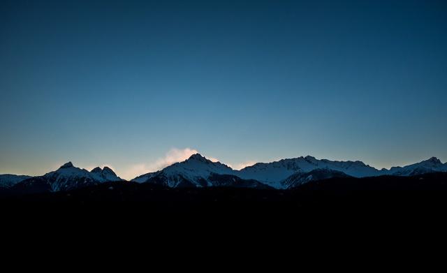 Plume, Tatntalus Mountain Range, Sea to Sky Highway, British Columbia, Canada