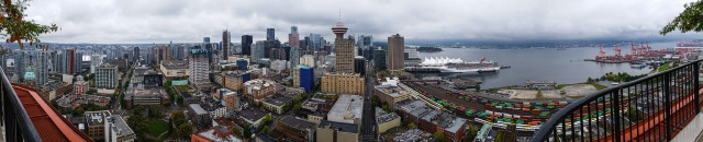 Vancouver and Harbour, From Woodward's Building, British Columbia, Canada