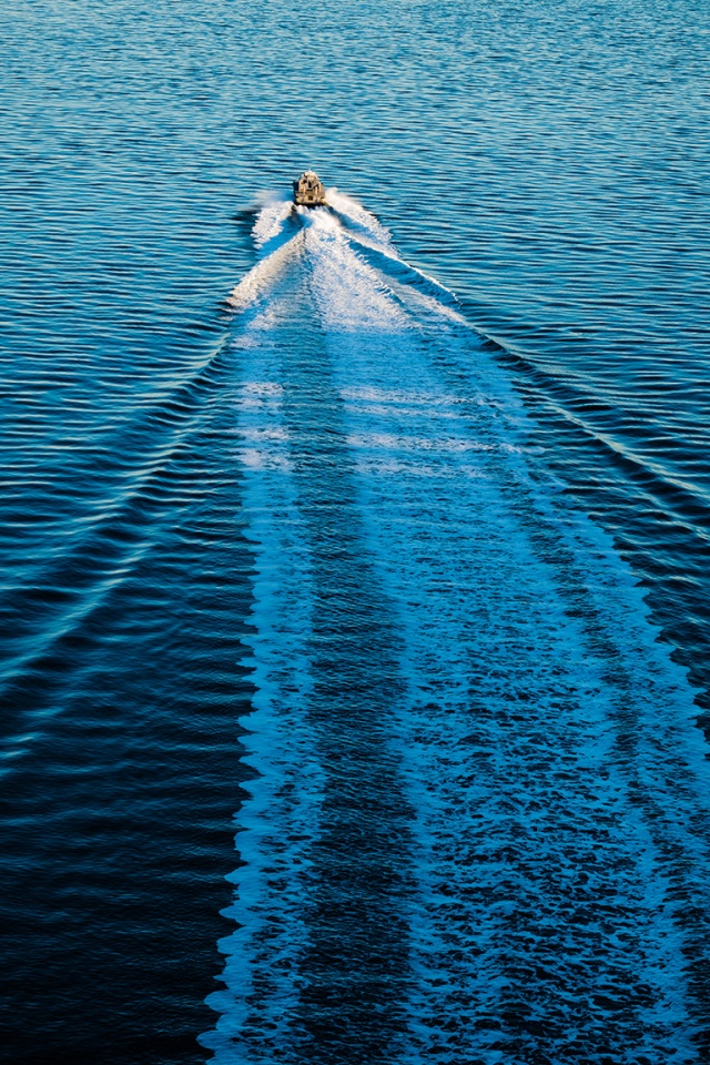 Wake, From Lions Gate Bridge, Burrard Inlet, Vancouver, British Columbia, Canada