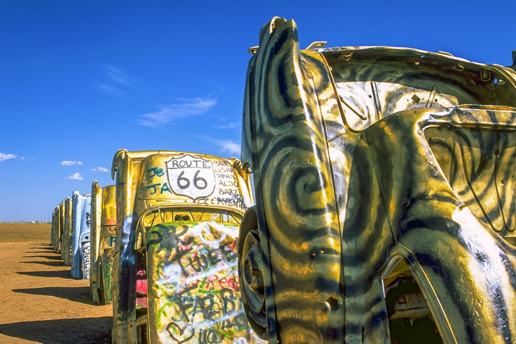 Cadillac Ranch, Route 66, Amarillo, Texas, United States of America