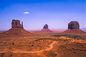 Mittens and Buttes, Monument Valley Navajo Park, Arizona, United States of America