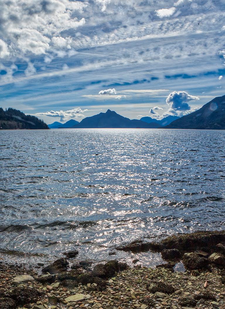 Rock and Sky and Sea, Howe Sound, Britannia Beach, British Columbia, Canada