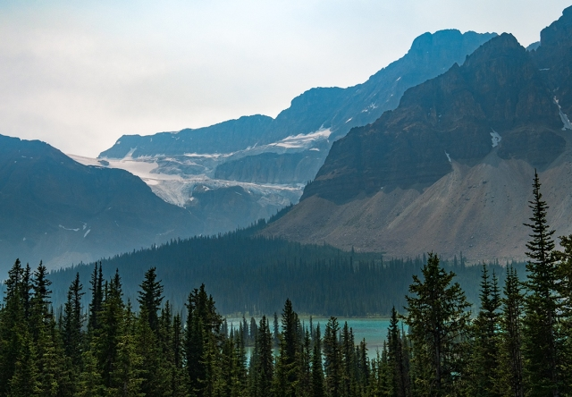 Smoke Suffused, Rocky Mountains, Banff National Park, Icefields Parkway, Alberta, Canada