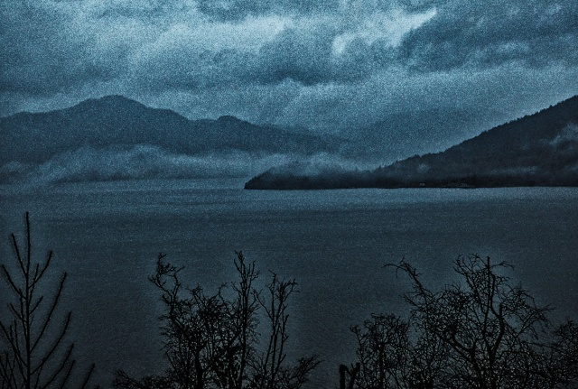 Stochastic, Howe Sound, Sea to Sky Highway, Near Porteau Cove, British Columbia, Canada