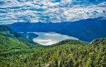 Beyond the Mountains Blue, Howe Sound, Sea to Sky Gondola, Squamish, British Columbia, Canada