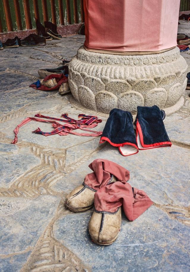 Boots, Labrang Si, Tibetan Yellow Hat Buddhist Monastery, Xiahe, Gansu, China