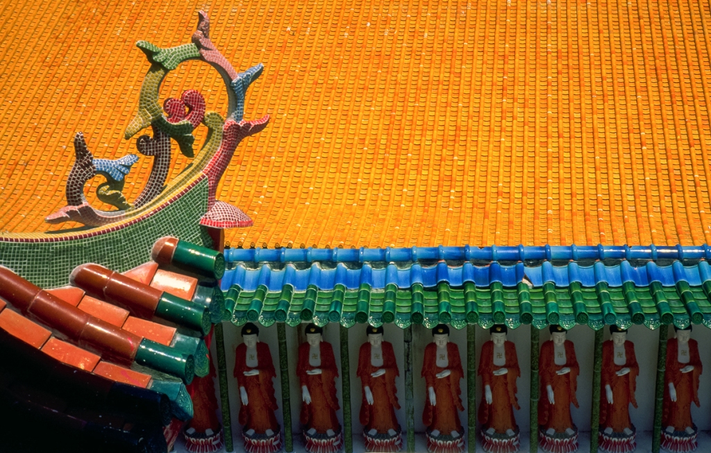 Buddhas All in a Row, Kek Lok Si Temple, Penang, Malaysia