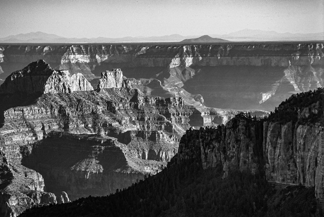 Monochrome Canyon, Bright Angel Point, Grand Canyon National Park, North Rim, Arizona, United States of America