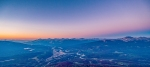 Sunset and Alpen Glow over Jasper, Amber, Violet and Indigo, Jasper Sky Tram, Jasper National Park, Alberta, Canada
