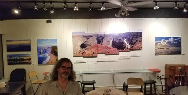 Gallery Bistro, Port Moody, British Columbia, Patrick Jennings' show of photographs, poetry and stories is now on the walls.