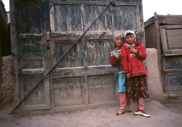 Two Uyghur Girls, Kashgar, Xinjiang, China