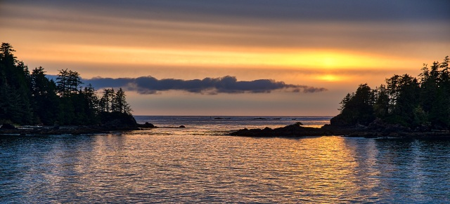 Narrow Channel, Food Islets, Near Ucluelet, Vancouver Island, British Columbia, Canada