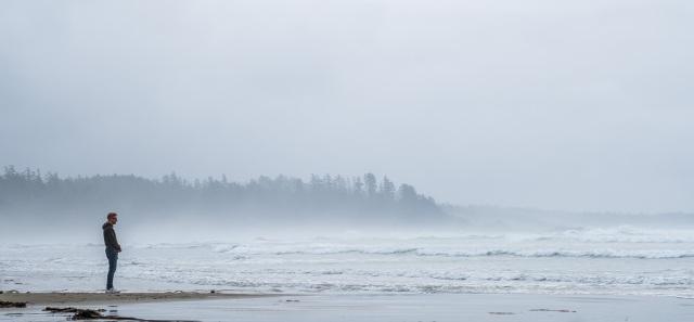 Seashore Solitude, Pacific Rim National Park, Vancouver Island, British Columbia, Canada
