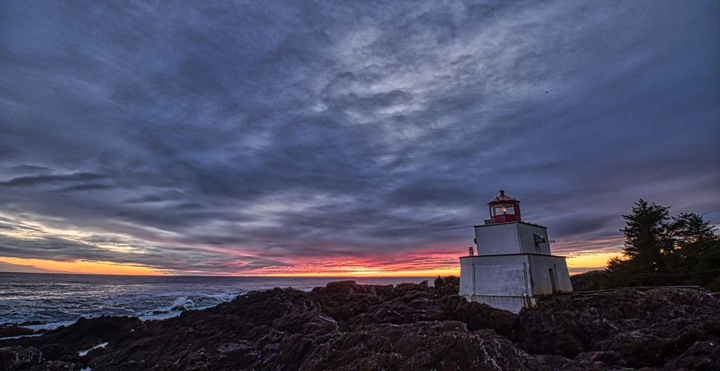 The Night Comes, Amphitrite Point Light House, Ucluelet, Vancouver Island, British Columbia, Canada