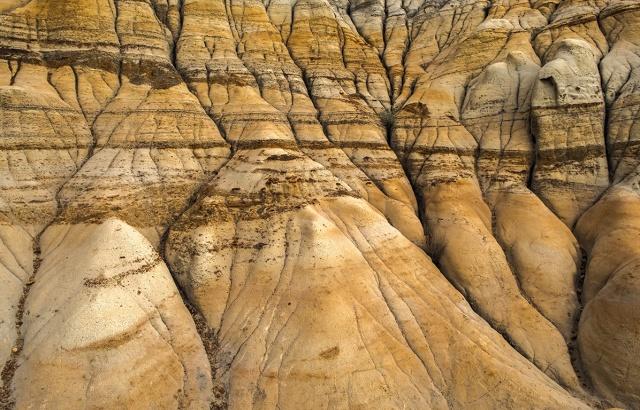 Badlands Rivulets, Drumheller, Alberta, Canada