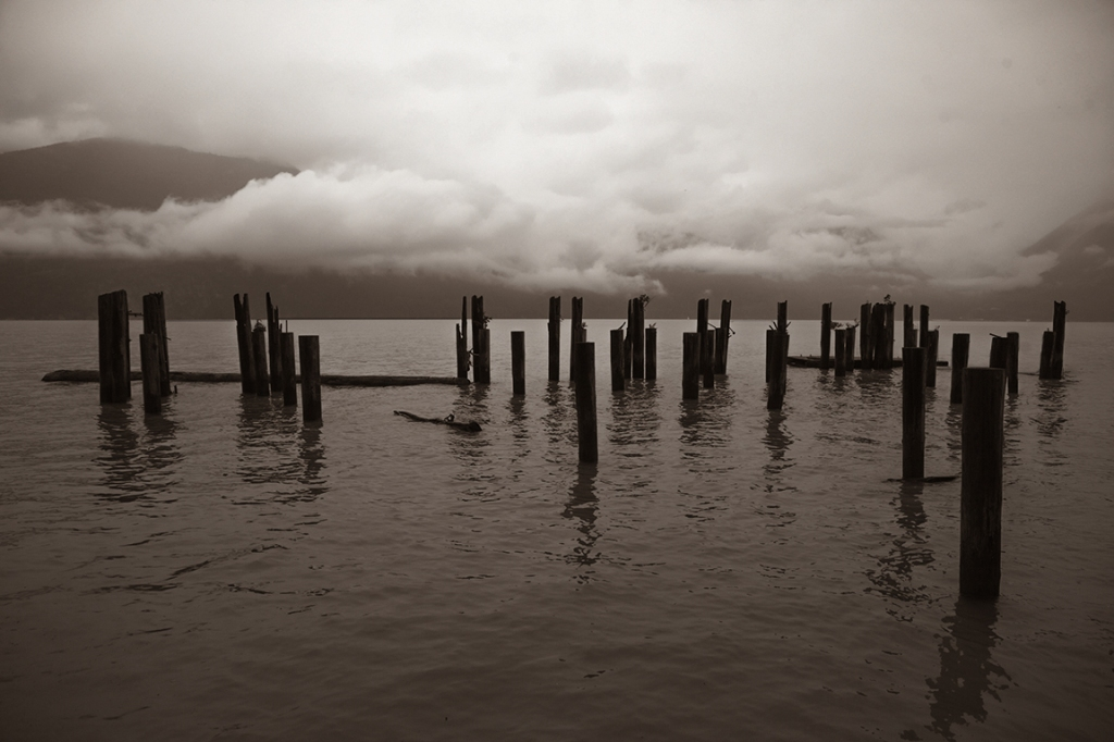 Beleaguered Pier, Britannia Beach, Howe Sound, Sea to Sky Highway, British Columbia, Canada