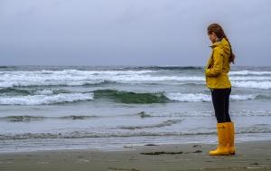 Contemplation, Long Beach, Pacific Rim National Park Reserve, Vancouver Island, British Columbia, Canada