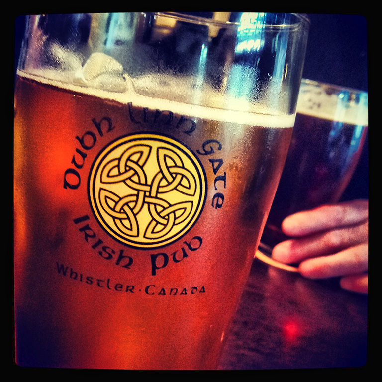 Draft Lager, Dubh Linn Gate Pub, Whistler, British Columbia, Canada