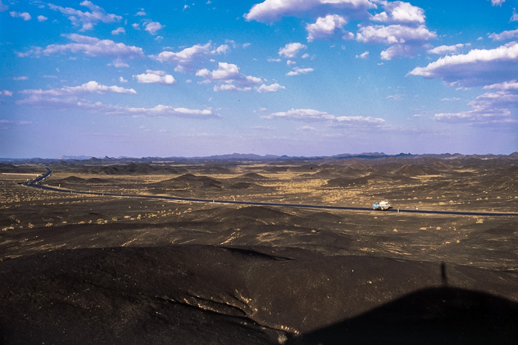 Blackened Earth, Highway G215, Nearing Liuyuanzhen, Gansu Province, China