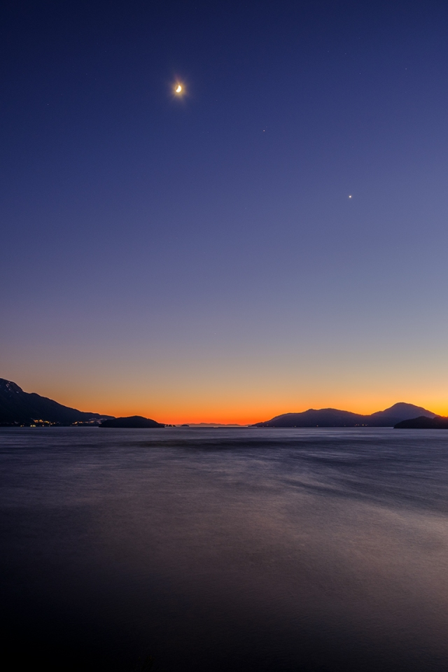 Howe Sound Sunset, Sea to Sky Highway, British Columbia, Canada